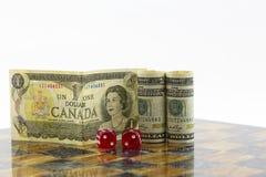 Het economische spel impliceert Canada en Verenigde Staten Royalty-vrije Stock Fotografie