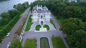 Het edelman` s landgoed van de fabrikant Aseev 03 Lucht Photography Het huis werd gebouwd in de Art Nouveau-stijl stock footage