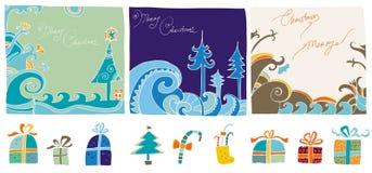 Het editable ontwerp van Kerstmis elem Royalty-vrije Stock Afbeelding