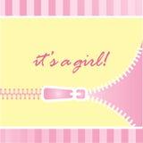 Het is een aankondiging van de meisjesbaby vector illustratie