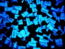 Blauwe moeilijke situatie Stock Foto's