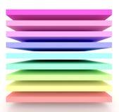 Het is een 3d regenboog stock illustratie