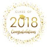 Het een diploma behalen klasse van de lichte vectorillustratie van 2018 vector illustratie