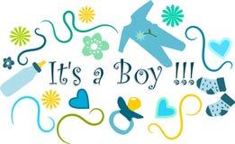 Het is een Jongen!!! Stock Afbeeldingen