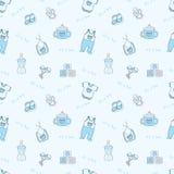 Het is een jongen - blauwe naadloze achtergrond Stock Foto