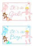 Het is een jongen, is het een meisje Stock Fotografie