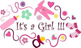 Het is een meisje!!! Royalty-vrije Stock Afbeeldingen