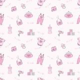 Het is een meisje - roze naadloze achtergrond Stock Afbeeldingen