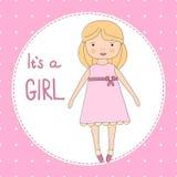 Het is een meisjeskaart Royalty-vrije Stock Afbeelding
