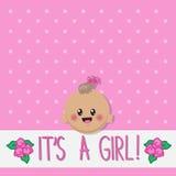 Het is een meisjeskaart Stock Afbeelding