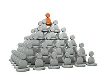 Het is een piramidestructuur, rang van macht Het vertegenwoordigt de structuur van de organisatie royalty-vrije illustratie