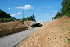 Het een tunnel graven en Wegwerkzaamheden - op Plaats royalty-vrije stock afbeeldingen