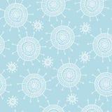Het eenvoudige blauwe patroon van de krabbelbloem Naadloze pastelkleur abstracte achtergrond Stock Afbeelding