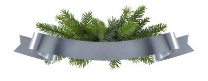 Het eenvoudige element van de Kerstmis zilveren decoratie Royalty-vrije Stock Foto