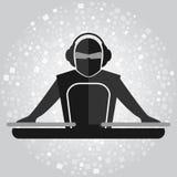 Het eenvoudige embleem van DJ Royalty-vrije Stock Afbeelding