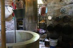 Het eenvoudige en gemakkelijke dorpsleven Stock Afbeeldingen