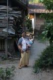 Het eenvoudige en gemakkelijke dorpsleven Royalty-vrije Stock Foto
