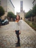 Het eenvoudige Franse meisje van het land stock afbeelding