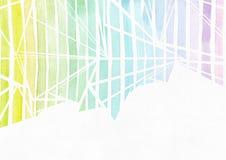 Het eenvoudige horizontale malplaatje met handdrawn inktdriehoeken maakte in stijl uit de vrije hand, met de korrelige textuur va Royalty-vrije Stock Afbeeldingen