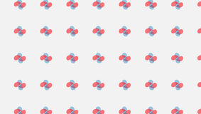 Het eenvoudige Moderne abstracte rode en cyaan verbonden patroon van bloembloemblaadjes vector illustratie