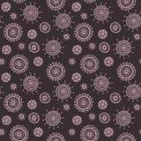 Het eenvoudige naadloze roze patroon van de krabbelbloem Royalty-vrije Stock Afbeelding