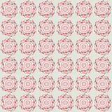 Het eenvoudige patroon van de pastelkleurbloem Stock Fotografie