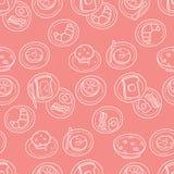 Het eenvoudige Patroon van het Ontbijt Royalty-vrije Stock Fotografie