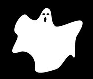 Het eenvoudige spook van de bladstijl voor Halloween Royalty-vrije Stock Foto