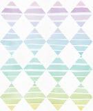 Het eenvoudige verticale malplaatje met handdrawn inktdriehoeken maakte in stijl uit de vrije hand, met de korrelige textuur van  Stock Afbeeldingen