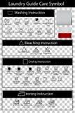 Het eenvoudige Zwart-witte Symbool van de Wasserijgids en leeg etiket drie, bij transparante effect achtergrond stock illustratie