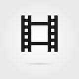 Het eenvoudige zwarte pictogram van de celluloidfilm stock illustratie