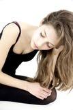Het eenzame tiener verward en gedeprimeerd voelen Stock Fotografie