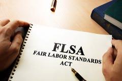 Het eerlijke Akte FLSA van Arbeidsnormen royalty-vrije stock afbeelding