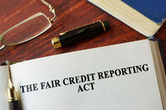 Het Eerlijke Krediet die Akte FCRA melden royalty-vrije stock foto's