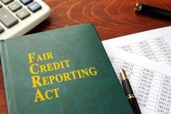 Het Eerlijke Krediet die van FCRA Akte melden stock afbeeldingen