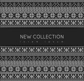 Het eerlijke ontwerp van de Patroonsweater op de wol gebreide textuur Stock Foto