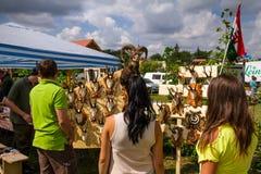 Het eerste festival van jagers in het dorp Perekhrest Royalty-vrije Stock Afbeelding