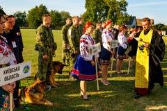Het eerste kampioenschap van de Nationale Politie van de Oekraïne met globale hondmanagers Royalty-vrije Stock Foto's