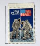 Het eerste landen op de maan Stock Afbeeldingen