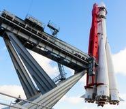Het eerste Russische ruimteschip - Vostok moskou royalty-vrije stock afbeeldingen