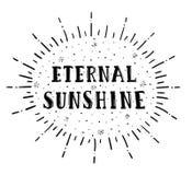 Het eeuwige zonneschijn van letters voorzien Stock Afbeeldingen