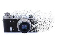 Het effect van bederf op uitstekende camera stock fotografie