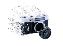 Het effect van bederf op uitstekende camera Royalty-vrije Stock Fotografie