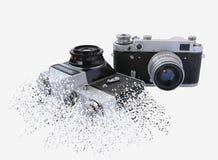 Het effect van bederf op uitstekende camera royalty-vrije stock afbeeldingen