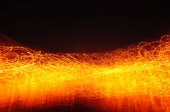 Het effect van de brandverlichting achtergrond Stock Afbeelding