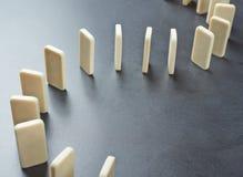 Het effect van de domino samenstelling Stock Afbeeldingen