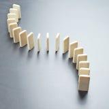 Het effect van de domino samenstelling Stock Foto's
