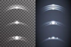 Het effect van de de gloed lichte heldere elektrische verlichting van de kosmoszonsopgang vastgestelde transparant van de ster li stock illustratie