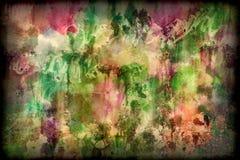 Het effect van de waterverf multi gekleurde textuur achtergrond royalty-vrije stock afbeelding
