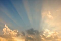 Het effect van de wolkenhemel Stock Afbeeldingen